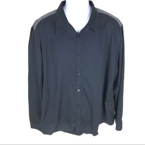 Calvin Klein Mens Black Button Shirt XXL